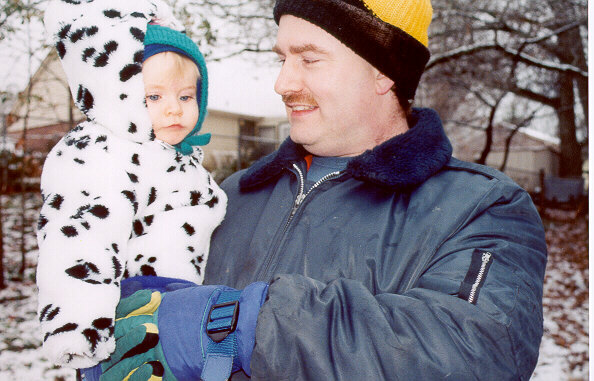 [Anna and Dad in Conyers, GA - December 2000]