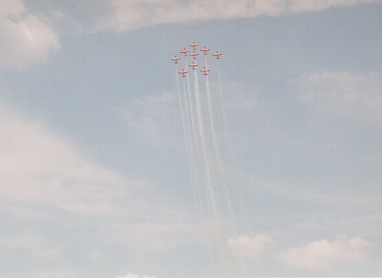 [Canadian Snowbirds performing at Warner Robins AFB - April 2001]